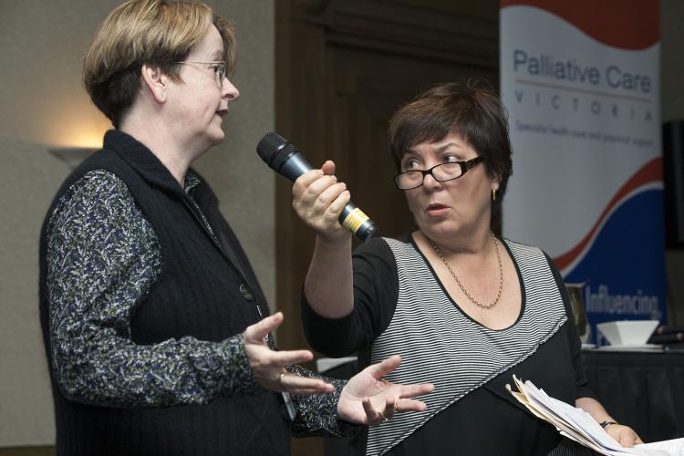 Dr Fran McInerney and Julie McCrossin